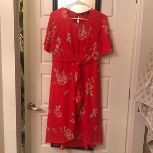 Red Flower Summer Dress